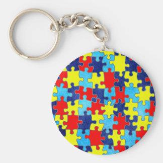 Chaveiro Consciência-Quebra-cabeça do autismo por Shirley