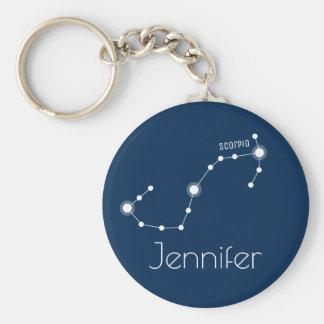 Chaveiro Constelação personalizada do zodíaco da Escorpião