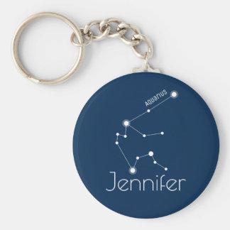 Chaveiro Constelação personalizada do zodíaco do Aquário
