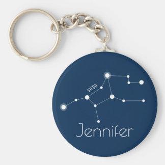 Chaveiro Constelação personalizada do zodíaco do Virgo