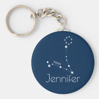 Chaveiro Constelação personalizada do zodíaco dos peixes