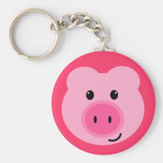 Chaveiro cor-de-rosa bonito do porco