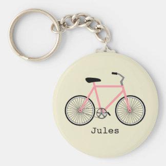 Chaveiro cor-de-rosa da bicicleta
