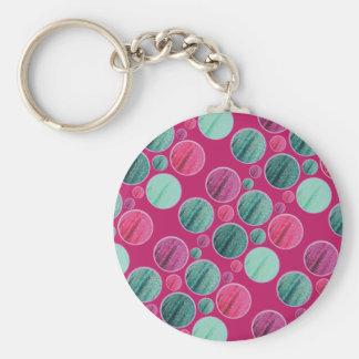 Chaveiro cor-de-rosa do círculo de Bling