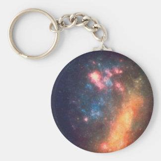 Chaveiro Cor galáctica abstrata da nuvem da nebulosa