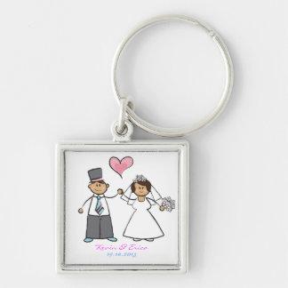 Chaveiro Coração bonito do amor do noivo da noiva do casal