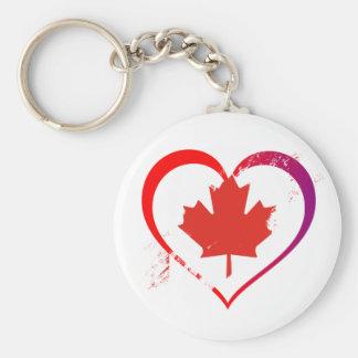 Chaveiro Coração de Canadá