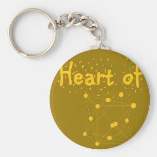 Chaveiro coração de ouro