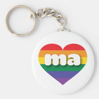 Chaveiro Coração do arco-íris do orgulho gay de