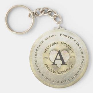 Chaveiro Coração do ouro do memorial | do monograma |