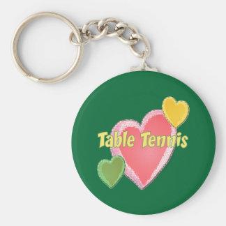 Chaveiro Coração eu amo o ténis de mesa