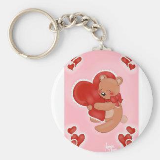 Chaveiro Coração que aquece Teddybear