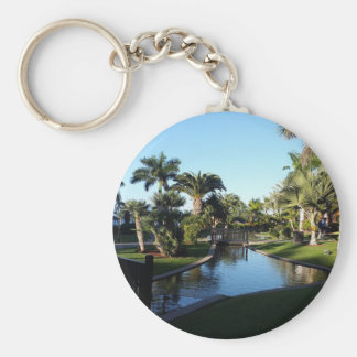 Chaveiro Córrego de Tenerife com anel chave do botão das