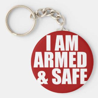 Chaveiro Corrente chave armada & segura