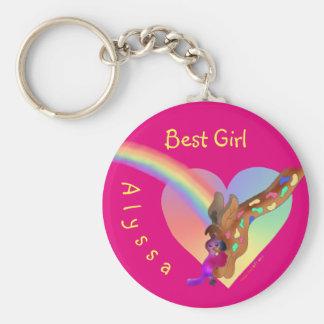 Chaveiro Corrente chave bonito para meninas - arco-íris &