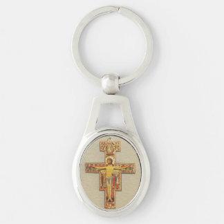 Chaveiro Corrente chave--Cruz Franciscan