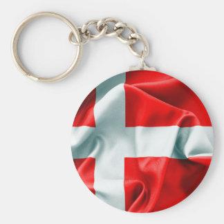 Chaveiro Corrente chave da bandeira de Dinamarca
