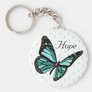Chaveiro Corrente chave da borboleta da esperança com as