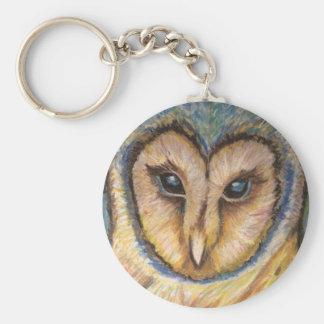 Chaveiro Corrente chave da coruja majestosa
