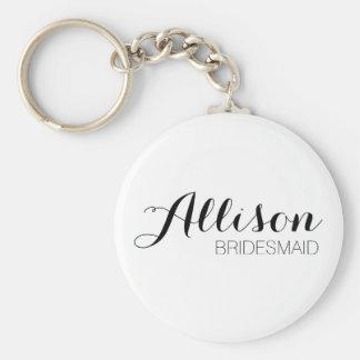 Chaveiro Corrente chave da dama de honra da personalização