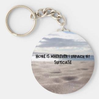 Chaveiro Corrente chave da foto real da praia com citações