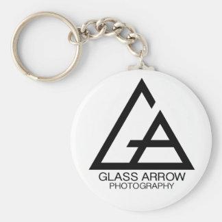 Chaveiro Corrente chave da fotografia de vidro da seta