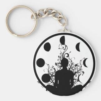 Chaveiro Corrente chave da menina da ioga