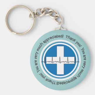 Chaveiro Corrente chave da semana feliz das enfermeiras