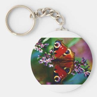 Chaveiro Corrente chave de borboleta de pavão