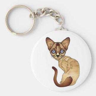 Chaveiro Corrente chave de gato Siamese