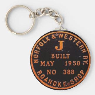 Chaveiro Corrente chave de Norfolk e da placa ocidental de