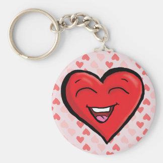 Chaveiro Corrente chave de riso do coração