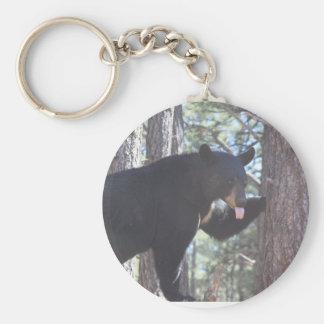 Chaveiro Corrente chave de urso preto