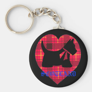 Chaveiro Corrente chave de Westie Scotland do Tartan