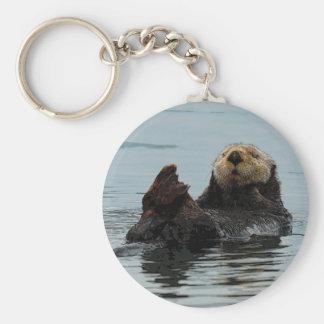 Chaveiro Corrente chave do Alasca de lontra de mar