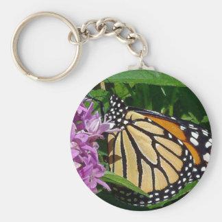 Chaveiro Corrente chave do botão da borboleta