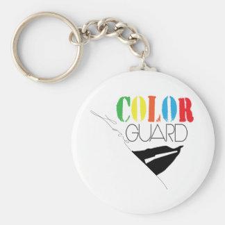 Chaveiro Corrente chave do botão da guarda de cor do amor