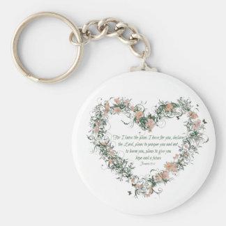 Chaveiro Corrente chave do coração floral do 29:11 de
