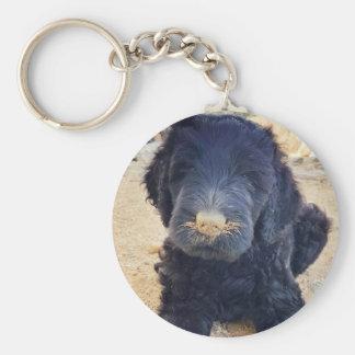 Chaveiro Corrente chave do filhote de cachorro preto de