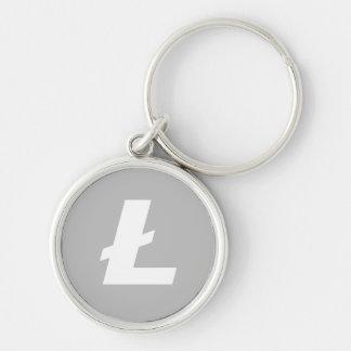 Chaveiro Corrente chave do logotipo de Litecoin