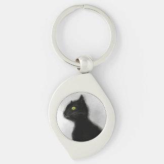 Chaveiro Corrente chave do metal do mestre do gato preto