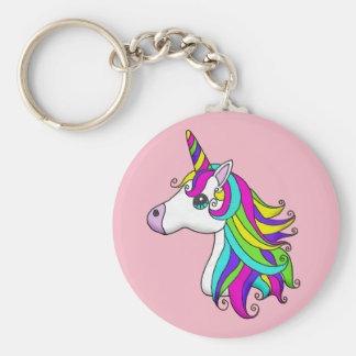 Chaveiro Corrente chave do unicórnio do arco-íris