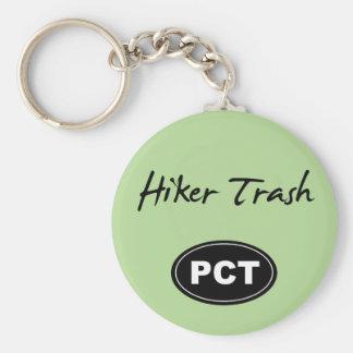 Chaveiro Corrente chave do verde pacífico do lixo do