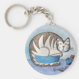 Chaveiro Corrente chave feita sob encomenda do gato gordo