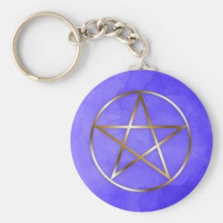Chaveiro Corrente chave oculto da estrela do Pentagram do