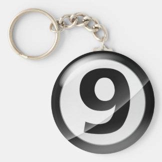 Chaveiro Corrente chave preta do número 9