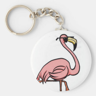 Chaveiro corrente chave redonda do flamingo legal
