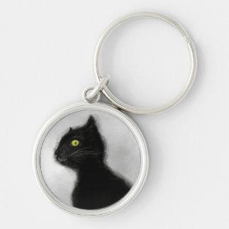 Chaveiro Corrente chave superior do mestre do gato preto