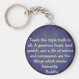 Chaveiro COTAÇÃO de Buddha - ensine esta verdade tripla….