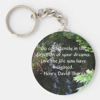 Chaveiro COTAÇÃO de Henry David Thoreau
